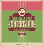 Vintage poster template for cherry pie Royalty Free Stock Images