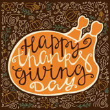 Vintage poster for thanksgiving Royalty Free Stock Images