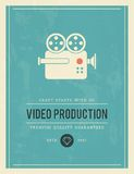 Vintage poster for video production Stock Photos