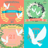 Vintage posters for the International Day of Peace Royalty Free Stock Photography