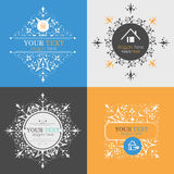 Vintage posters, logos. Icons of houses Stock Photography