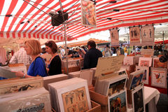Vintage posters market in Nice, France Royalty Free Stock Images