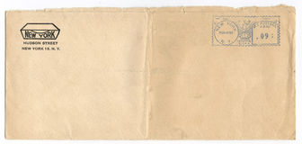 Vintage Postmarked Envelope Stock Photography
