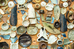 Vintage Pottery with texture background Stock Photography