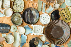 Vintage Pottery with texture background Stock Images