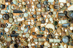 Vintage Pottery with texture background Royalty Free Stock Photos