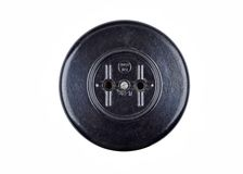 Vintage power socket Royalty Free Stock Images