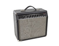 Vintage Practice Guitar Amplifier Isolated Stock Photography