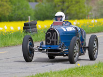 Vintage pre war race car Bugatti T. MUTSCHELLEN, SWITZERLAND-APRIL 29: Vintage pre war race car Bugatti T 35B from  1929 at Grand Prix in Mutschellen, SUI on Royalty Free Stock Images