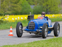 Vintage pre war race car Bugatti T. MUTSCHELLEN, SWITZERLAND-APRIL 29: Vintage pre war race car Bugatti T 54/50B from  1936 at Grand Prix in Mutschellen, SUI on Stock Image