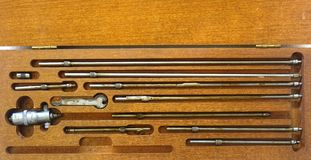 Vintage Precision Instruments Stock Photo