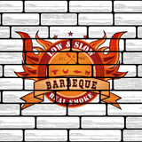Vintage Premium Barbecue BBQ Graphic logo Stock Photos