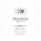 Vintage Premium Label Royalty Free Stock Images