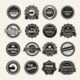 Vintage Premium Quality Black And White Badges Stock Photo