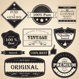 Vintage Premium Quality Label Royalty Free Stock Photos