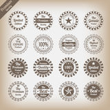 Vintage premium quality labels set. Eps10 Royalty Free Stock Photos