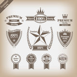 Vintage premium quality labels set. Stock Images