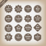 Vintage premium quality labels set. Eps10 Royalty Free Stock Photo