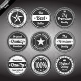 Vintage premium quality labels set. Royalty Free Stock Photo