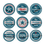 Vintage premium quality labels set. Eps10 Stock Photography