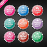 Vintage premium quality labels set. Royalty Free Stock Photography