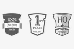 Vintage premium quality labels set Royalty Free Stock Photo