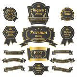 Vintage premium quality labels set. Royalty Free Stock Photos