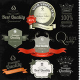 Vintage premium quality and most popular labels. Stock Photography