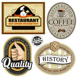 Vintage premium quality and most popular labels. Stock Photos