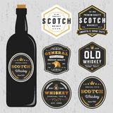 Vintage Premium Whiskey Brands Label Design Template Stock Photo