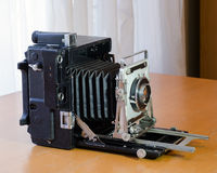 Vintage press camera side view Royalty Free Stock Image