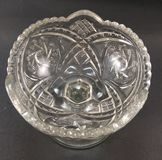 Vintage pressed depression glass candy dish Stock Photos