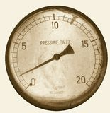 Vintage Pressure Gauge. From an old steam engine Royalty Free Stock Photo