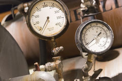 Vintage Pressure Gauges Abstract Royalty Free Stock Photos