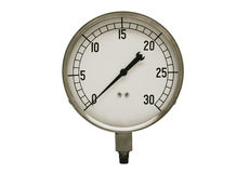 Vintage pressure guage Stock Photography