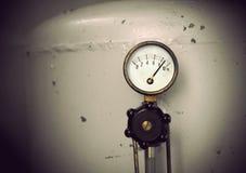 Vintage pressure meter Stock Images