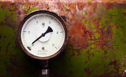 Vintage pressure meter Royalty Free Stock Photography