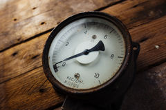Vintage pressure meter Royalty Free Stock Photo