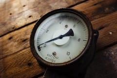 Vintage pressure meter Royalty Free Stock Photo