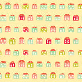 Vintage pretty town yellow colorful pattern Stock Photography