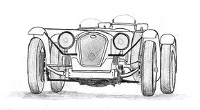 Vintage prewar sportscar Royalty Free Stock Photos