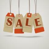 4 Vintage Price Sticker Sale Royalty Free Stock Photography