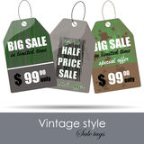 Vintage price tags design Royalty Free Stock Photos