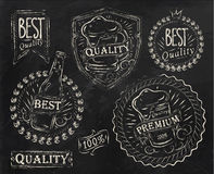 Vintage print design beer elements. Chalk. Vintage print design elements on the subject of beer quality stylized under a chalk drawing on the theme of beer on a Royalty Free Stock Photography