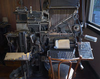 Vintage print machine from Royalty Free Stock Photo