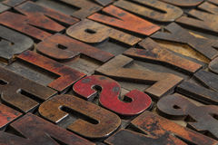Vintage printing blocks Royalty Free Stock Images