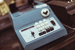 Vintage printing calculator Royalty Free Stock Image