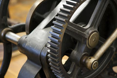 Vintage printing press detail Stock Photography