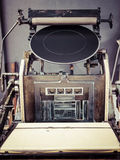 Vintage Printing press machine close up Stock Image