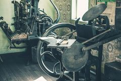 Vintage Printing Shop Stock Photography